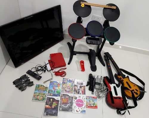 Oferta! Televisor + Wii + Todo Lo Que Se Ve En La Foto