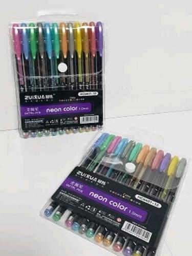 Bolígrafos Gel Metalizados 12 Colores Venta X 3 Unidades