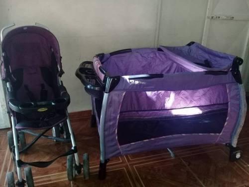 Corral Y Coche, (combo) Happy Baby. Para Niñas.