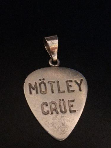 Dije De Plata Uña Pajuela De Guitarra De Motley Crue