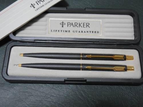 Juego De Bolígrafo Y Portamina Parker Original