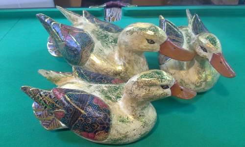 Patos Mandarines Madera Artesania Indonesia