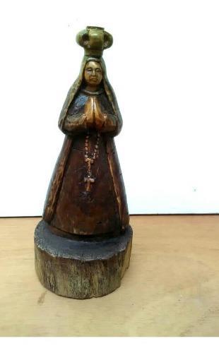 Virgen Del Valle Tallada En Madera.