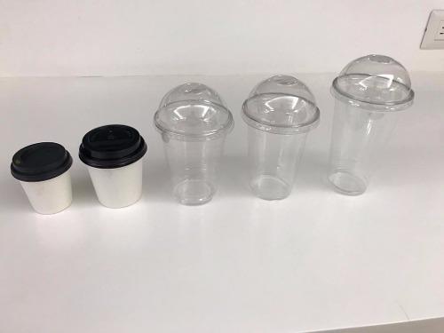 Vasos Plasticos Desechables Con Tapa Domo 12 Oz 14 Oz 16 Oz