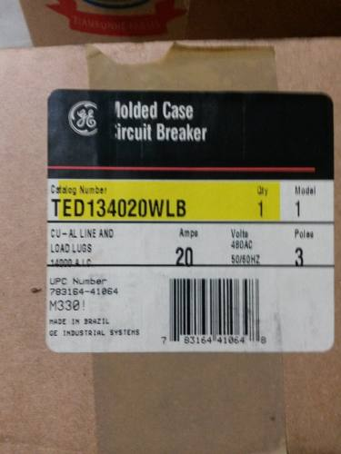 Breaker General Electric 3x20amp Ted wlb