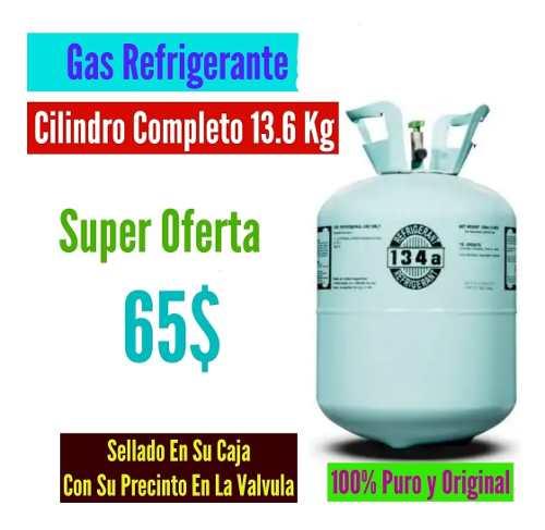 Gas Refrigerante 134 R134 R134a R-134 Cilindro 13.6 Kg