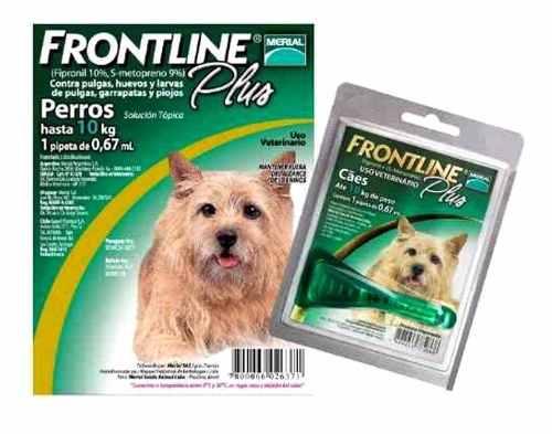Pipetas Para Perros Frontline Combo Hasta 10 Kg De Peso