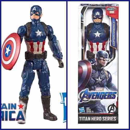 Muñeco Súper Héroe Capitán América Marvel Hasbro