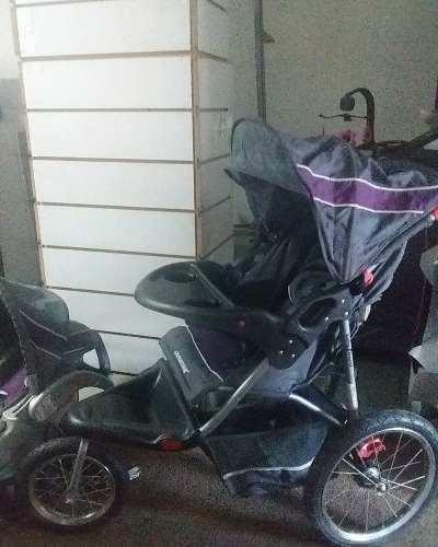 Coche De Tres Ruedas Con Porta Bebe Marca Baby Trend