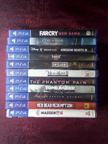 Vendo O Cambio Juegos De Ps4 Kh Days Mgs Tomb Batman Anthem