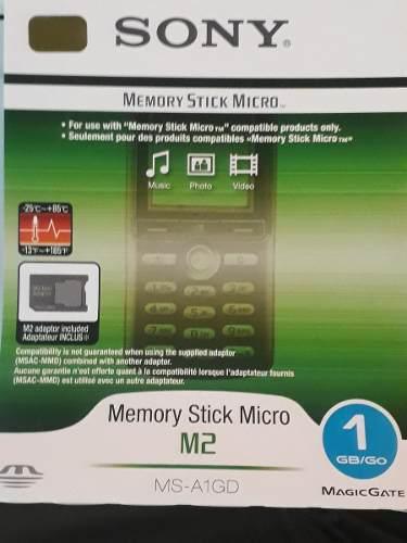 Memory Stick Micro De 1gb Y De 62 Mb Sony Original M2 (10)