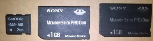 Sony M2 2gb Memory Stick Pro Duo 1gb Cam Psp-3000 Chip 20vds