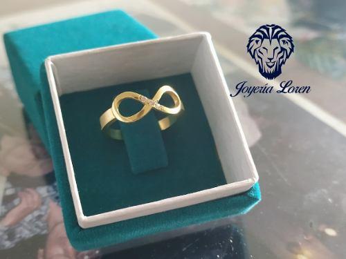 Anillo Infinito Elaborado En Plata Ley 925 Con Baño De Oro