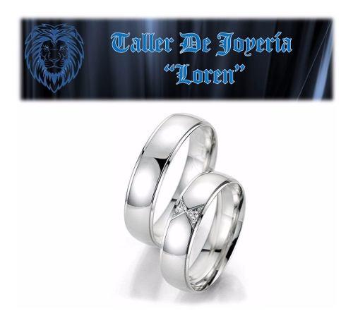 Anillos De Matrimonio En Plata Ley 925 Con Baño De Oro 18k