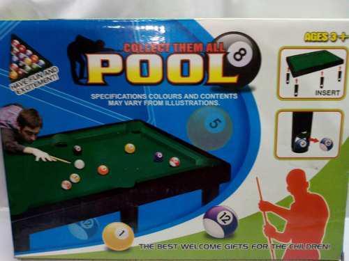 Dos Juguetes Para Niños Mesa De Pool Billar Calidad Oferta