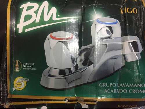 Griferia De Lavamano Bm Modelo Vigo Acabado Cromado