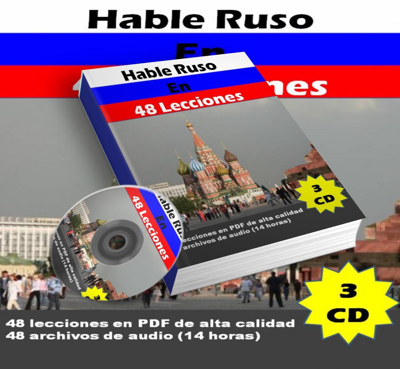 Hable Ruso En 48 Lecciones (3 Cds)