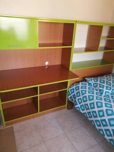 Modular Biblioteca Escritorio Cama Colchon Cuarto Habitacion