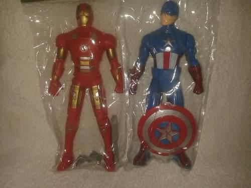 Muñeco De Iron Man Capitan America Con Luz 16 Cm Juguetes