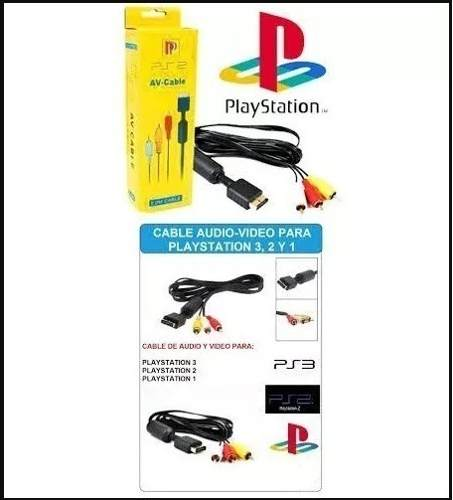 Cable Audio Video Para Sony Play Station Ps1 Ps2 Ps3 Nuevo