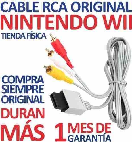 Cable Rca Audio Y Video Original Nintendo Wii (3v)