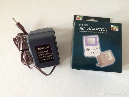 Cargador Para Game Boy Color Y Game Boy Pocket. 2 Unidad