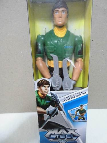 Figura Accion Max Steel Mision Selva Original Mattel 10verde