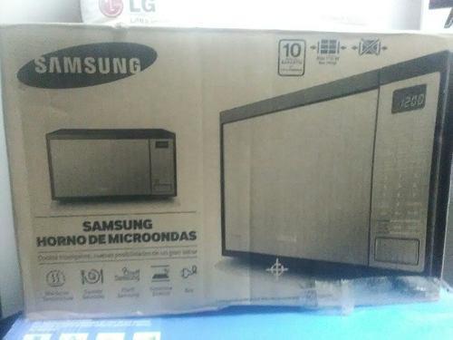 Microondas Samsung 1.1 Pies Negro Tipo Espejo
