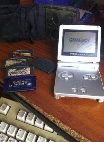 Nintendo Game Boy Advance + 5 Juegos(luz De Pantalla