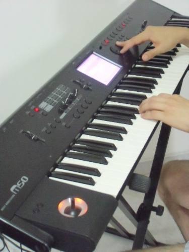 Piano Teclado Korg M-50_73 Poco Uso Accesorios 900&$ Negoci