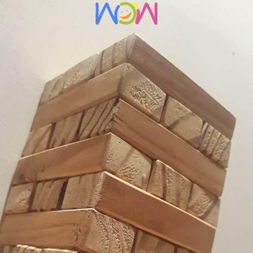 Torre De Bloques Wow Madera Pedagogico Montessori Tipo Jenga
