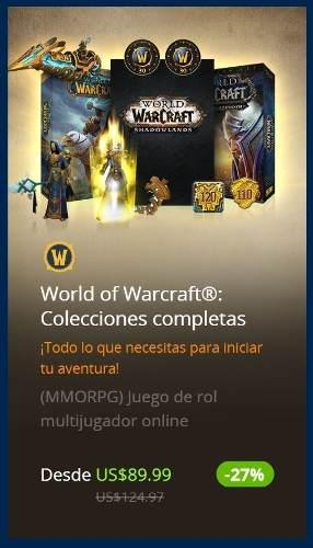World Of Warcraft Battle For Azeroth + Shadowlands + 30 Dias