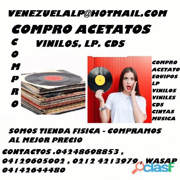 COMPRO DISCOS LP, COMPRA DE ACETATOS, COMPRAMOS VINILOS, SE
