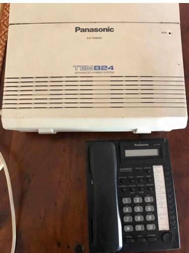 Central Telefónica Panasonic Kxtem824 Usado Con Teléfono