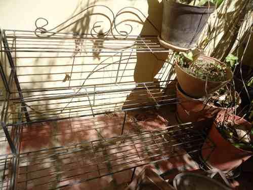 Jardinera Grande De Hierro Forjado Para Plantas Y Macetas