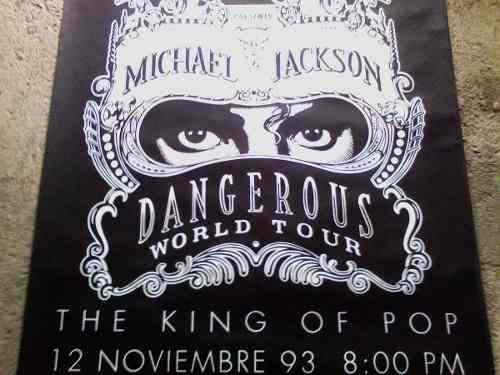 Michael Jackson Afiche Concierto En Caracas