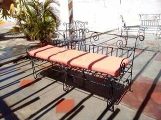 Muebles De Hierro Forjado Para Patio Sala Caney Etc