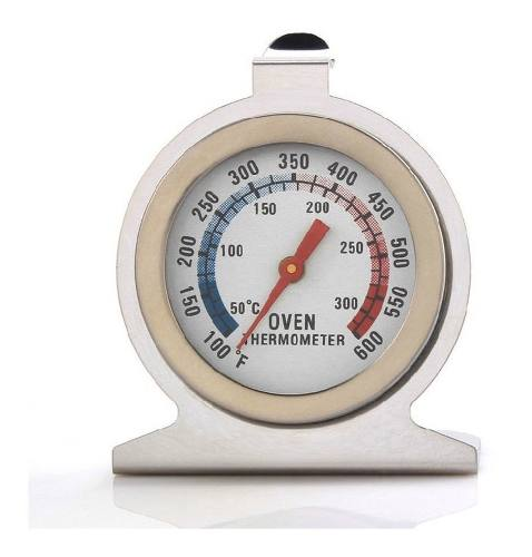 Termometro Para Horno Acero Inoxidable 300°
