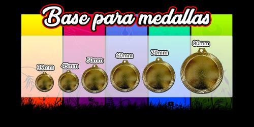 Bases Para Medallas Centro Vació