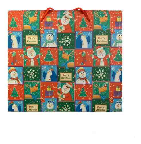Bolsa De Regalo Navidad 31x 37x 26 Cm Cod N-2 (1/2 Docena)