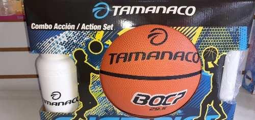Combo Accion De Basketbol #7 #5 Tamanaco Con Termo Y Bomba