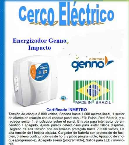 Energizador De Cerco Eléctrico Genno Modelo Impacto mts