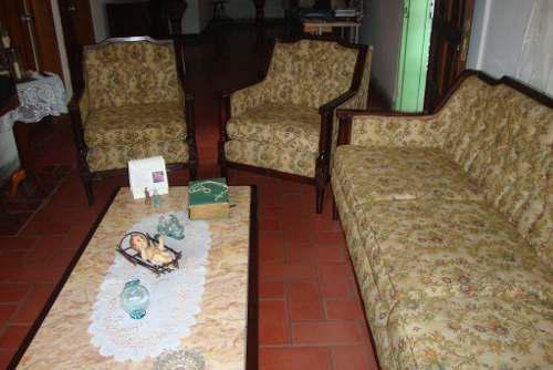 Juego De Muebles De Madera Antiguo. Estilo Luis Xv