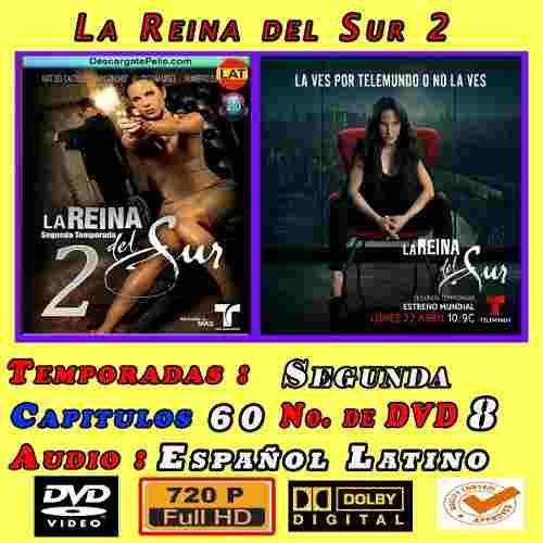 La Reina Del Sur Temporada 2 Hd 720p Completa 8 Discos