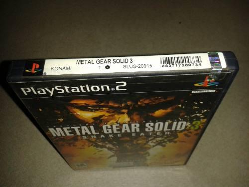 Metal Gear Snake Eater / Playstation 2 (leer Descripción)