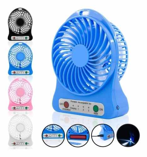 Mini Ventilador Portatil Recargable Usb Colores C720