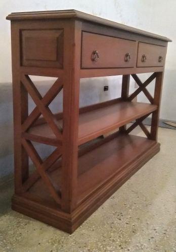 Mueble Consola En Madera De Algarrobo