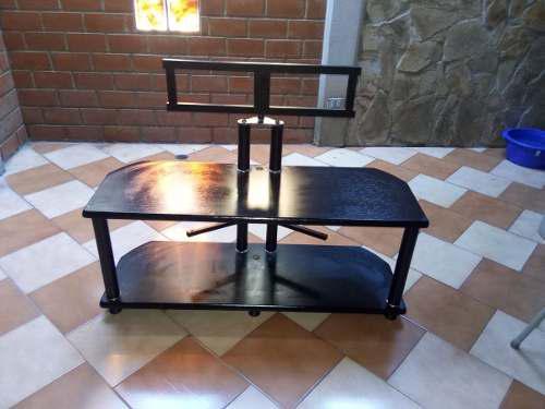 Mueble Multifuncional Con Base Para Tv En Madera Negra.90ve