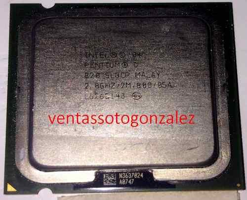 Procesador Pentium D ghz Bus 800 Socket 775