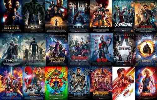Saga Peliculas Dc Comics Y Marvel Fullhd Combos A Convenir